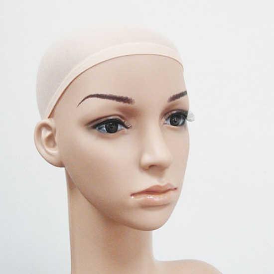 2 sztuk Unisex elastyczna oddychająca Stretch włosów peruka Stocking Liner Cap Cosplay Snood