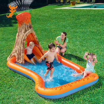 Outdoor Park Water Slide Inflatable Pool With Slide Children's Pool Swimming Inflatable Water Slides For Kids Sliding Board Toy water gyro 4 0 2 4 m water game playing on the park lake swimming pool summer water toy outdoor game water park