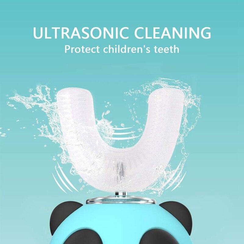Ultrasonic Kids Electric Toothbrush,U Type Whitening Toothbrush,IPX7 Waterproof,3-7 Years