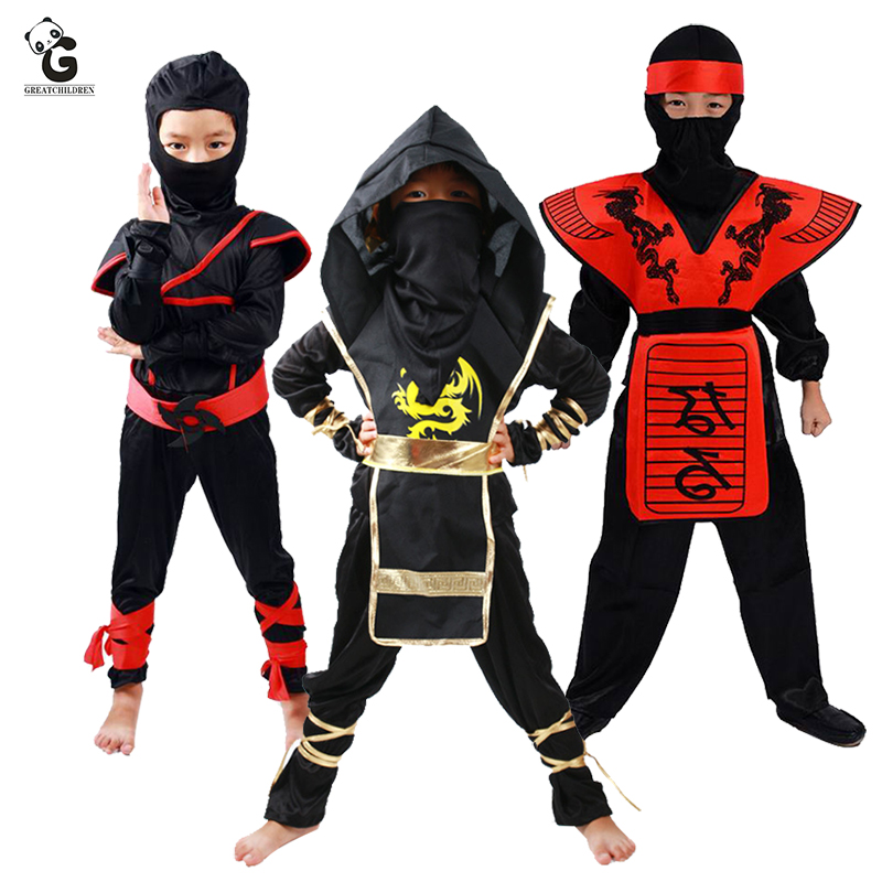 Ninja Costume Child Ninjago Party Costumes Kids Halloween Costume For Kids Christmas Fancy Dress Up Superhero Cosplay Ninja Suit