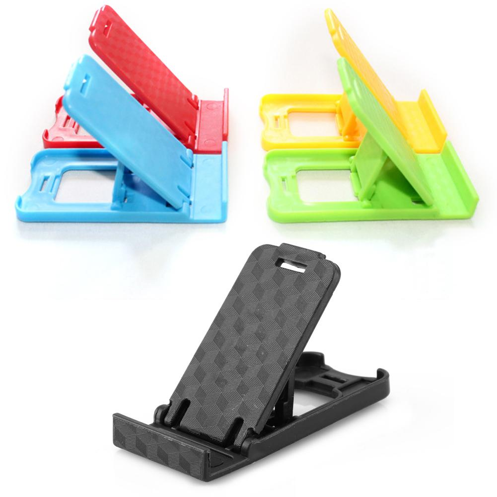 Portable Mini Phone Stand Plastic Foldable Desk Card Wallet Stand Holder Adjustable Universal For Mobile Phone/Tablet PC