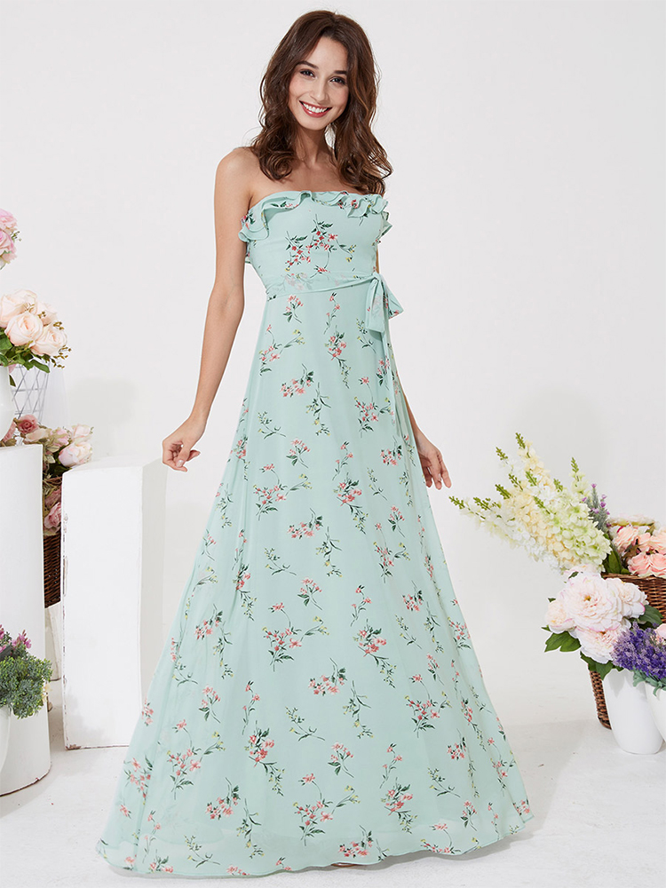 Boho Dress Robe-De-Soiree Ever Pretty Vestido-De-Festa Elegant Summer Floral-Print Long