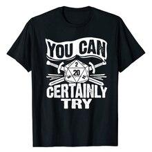 Вы, безусловно, можете попробовать D20 игральные кости, забавные, ролевые игры, подарок, футболка