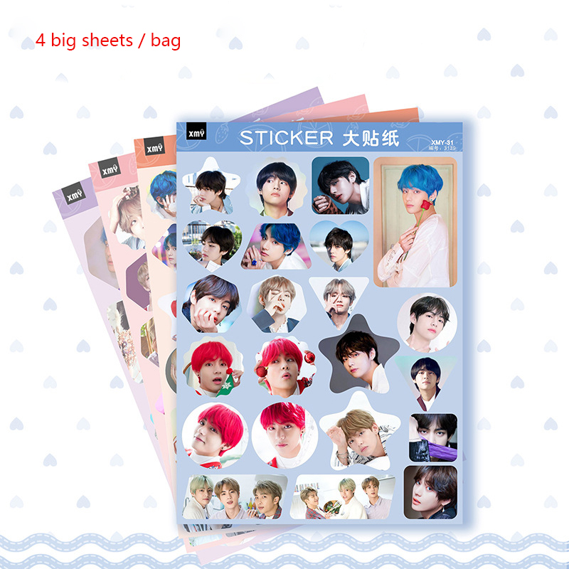 Stickers BTS Stickers Star Stickers Diary Stickers MTZ171-177-6 Skateboard Stickers Cute Stickers Stickers Scrapbooking Stickers