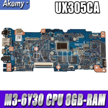 New Akemy UX305CA mainboard REV 2.0 For Asus UX305C UX305CA U305C Zenbook motherboard 100% Tested OK M3-6Y30 CPU 8GB-RAM akemy x556uv rev 3 1 x556uj rev 2 0 hdd board for asus a556u f556u k556u fl5900u r556u vm590u hard disk board 100