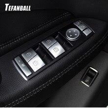 Car steering whee Seat Adjust Button Cover Sticker for Mercedes Benz A B C E Class W204 W212 GLA X156 CLA C117 GLE W166 ML GL стоимость