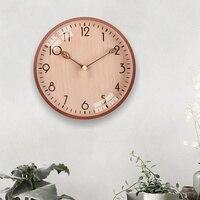 Nussbaum Holz Uhren Blume Home Decor Für Küche Stille Wohnzimmer Uhren Zubehör Kunst Vintage Große Wanduhren-in Wanduhren aus Heim und Garten bei