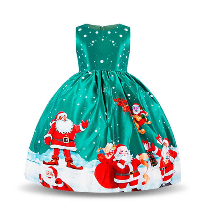 Vestido De Navidad Para Niñas Pequeñas Moda Niños Vestidos