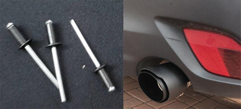 e encaracolado tubo de escape silenciador ponta capa de escape ponta