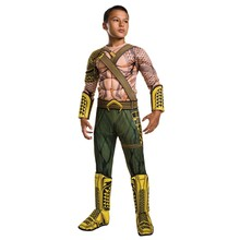 2018NEW ARRIVAL Deluxe Child Muscle Dawn of Justice Aquaman Halloween Costume Boys DC Justice League Superhero Cosplay(China)