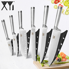 XYj Hot Stainless Steel Knives Paring Utility Santoku Chef Slicing Bread Kitchen Cooking Knife Accessories