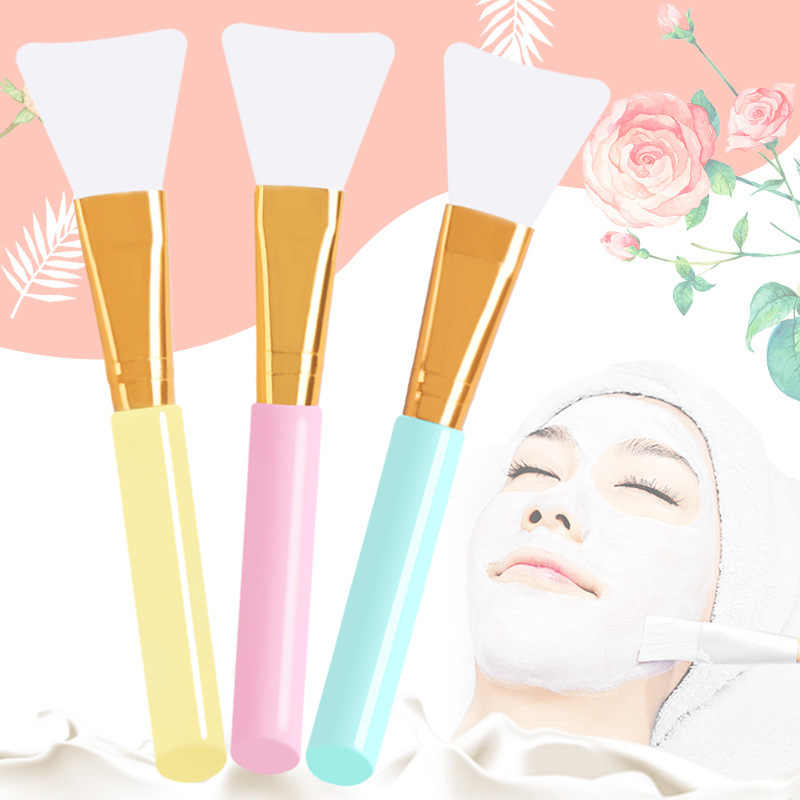 3 Colors 1Pc Professional Facial Mask Stirring Soft Silicone Makeup Brush