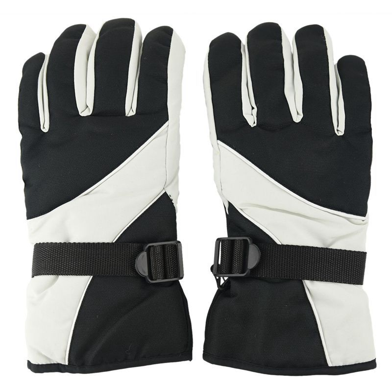 Men Ski Gloves Thermal Waterproof For Winter Outdoor Sports Snowboard (Grey)