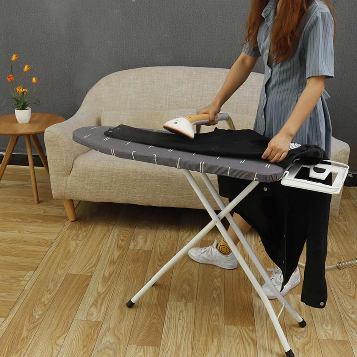 Hauteur réglable planche à repasser Table support Portable pliant gain de place élastique ménage planche à repasser chaleur antidérapant
