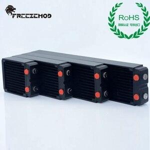 Image 5 - FREEZEMOD компьютер ПК водяной охладитель медный радиатор двухслойный 45 мм толщиной медные плавники G1/4 ROHS сертификация.