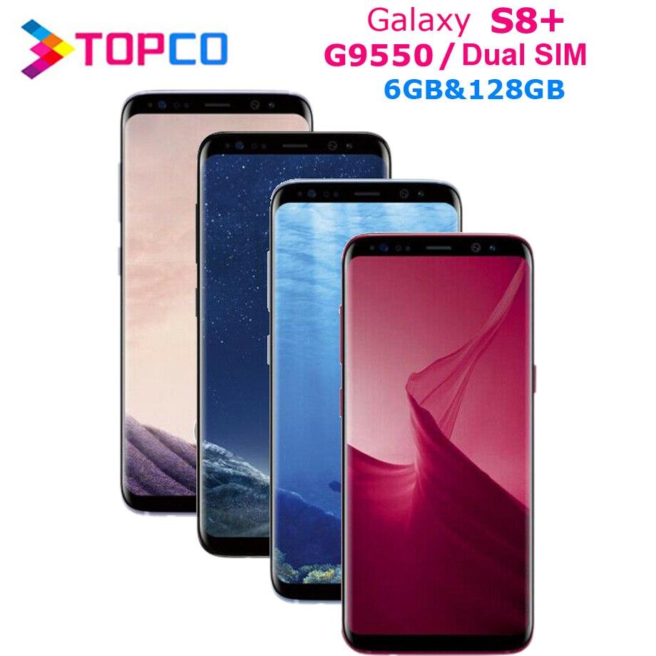 "Samsung Galaxy S8 + S8 Plus Dual Sim Original G9550 4G LTE NFC Android Telefon Snapdragon Octa Core 6.2 ""12MP RAM 6GB ROM 128GB NFC"