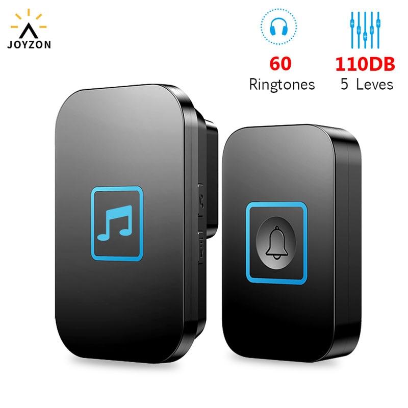 Wireless Waterproof IP44 Doorbell 1 Button 1 2 Receiver 300M Remote Control Smart Cordless Home Door Bell 60 Chime US EU UK Plug