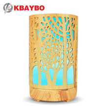 KBAYBO 100ml Air Humidifier Essential Oil Aroma Diffuser Purifier Hollow Cylinder with 7 Colors LED Night Lights  for Home