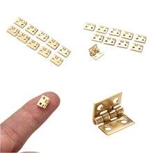 Крошечный 20 штук мини небольшой металлический шарнир для 1/12 дом Миниатюрный шкафчик мебельная фурнитура для шкафов 10X8 мм