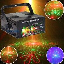 כפול צבעים Strobe קול שליטת לייזר דיסקו מסיבת אורות עם גרפיקה ציוד Dj שלב לומייר Soundlights