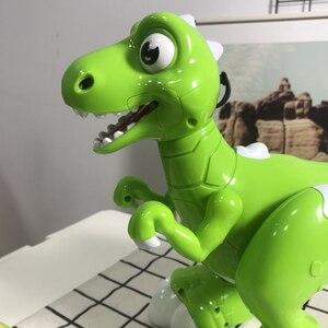 Image 4 - Dinossauro robô brinquedos interativos robô de controle remoto robótico spary dinossauro multifuncional música dança brinquedos rádio controlado