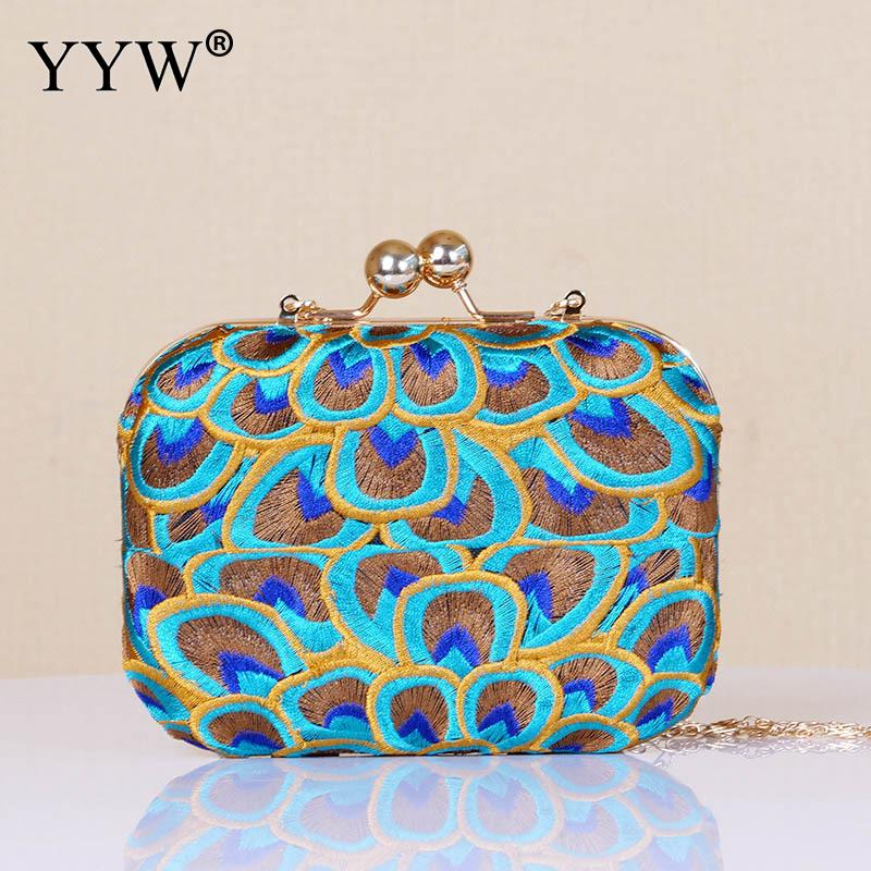 Vintage Embroidery Clutch Bag With Wedding Evening Party Purse Bags For Women 2019 Mini Clutches Crossbody Bags Pochette Femme