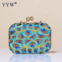 Vintage Embroidery Clutch Bag With Wedding Evening Party Purse Bags For Women 2019 Mini Clutches crossbody bags pochette femme pochette femme silver evening bags and clutches for women crystal clutch beaded rhinestone purse wedding party handbag