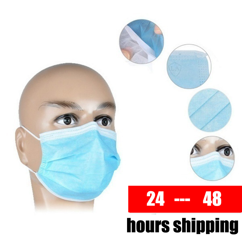 1000 Pcs Disposable Face Masks Thick 3-Layer Masks With Earloops For Salon Home Use Comfortable Mask