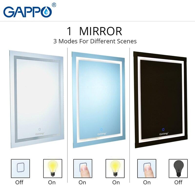Gappo bath LED mirrors Light Makeup Mirror lights Bathroom mirrors rectangle
