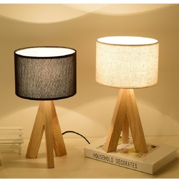 Nordic Modern Art Wood Lights Decoration Table Light Living Room Learning Table Lamps For Bedroom Home Deco Standing light