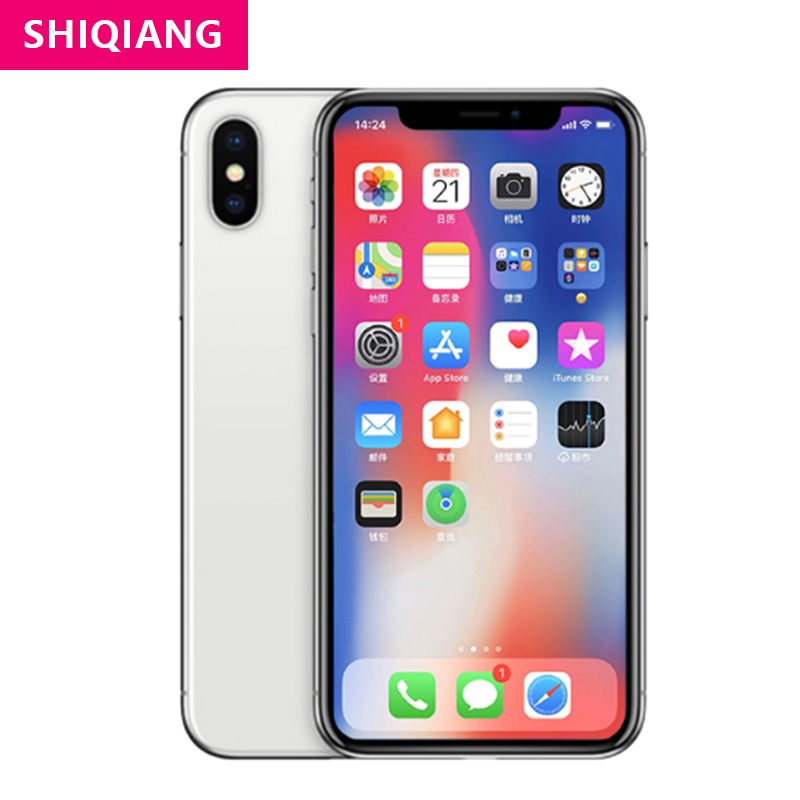 Apple iPhone X Original Unlocked Cellphone 1 Sim card Face ID IOS 64/256GB ROM 4G LTE 5.8'' Rear Dual Cameras Full Screen Phone