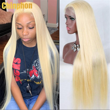 """Human Hair Wigs 38 40""""13x4 613 Blonde Lace Front Wigs Pre Plucked 613 Transparent Straight Lace Frontal Wig For Black Women"""