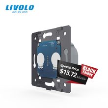 LIVOLO EU Standard, AC 220 ~ 250V Die Basis Von Wand Licht Touchscreen Schalter, 2Gang 1Way, VL C702