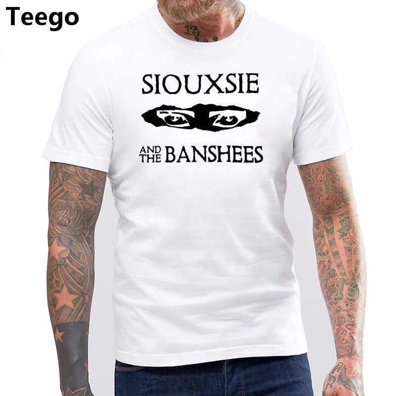 Unisex Siouxsie Và Các Banshee người đàn ông T-Shirt New Goth Punk Mắt t áo sơ mi Chữa Bệnh
