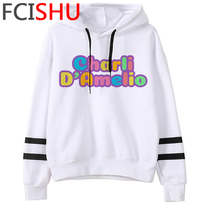 Fashion Charli Damelio Merch Ice Coffee Graphic Hoodies Women Harajuku Ullzang Funny Cartoon Sweatshirt Wimter Warm Hoody Female 8