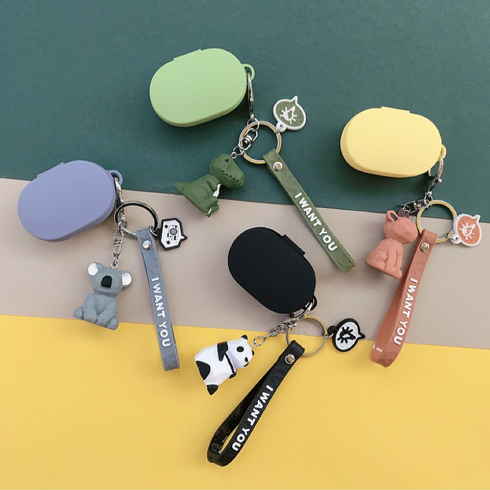 Cute Panda Rabbit Silicone Cover For Xiaomi MI Redmi AirDots Case For Air Dots Wireless Bluetooth Earphone Case Headset Shell