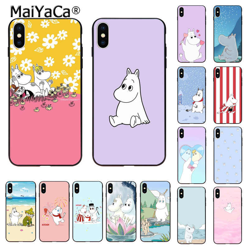 MaiYaCa Hippo moomin Cute animal cartoon TPU Soft Silicone Phone Case for Apple iPhone 8 7 6 6S Plus X XS MAX 55S SE XR 11 pro