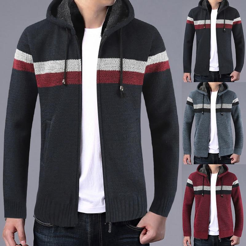 2019 Men's Winter Coat Casual Hoodies Male Hooded Jackets Clothing Men Autumn Long Sleeve Sweatshirt Outwear Tops