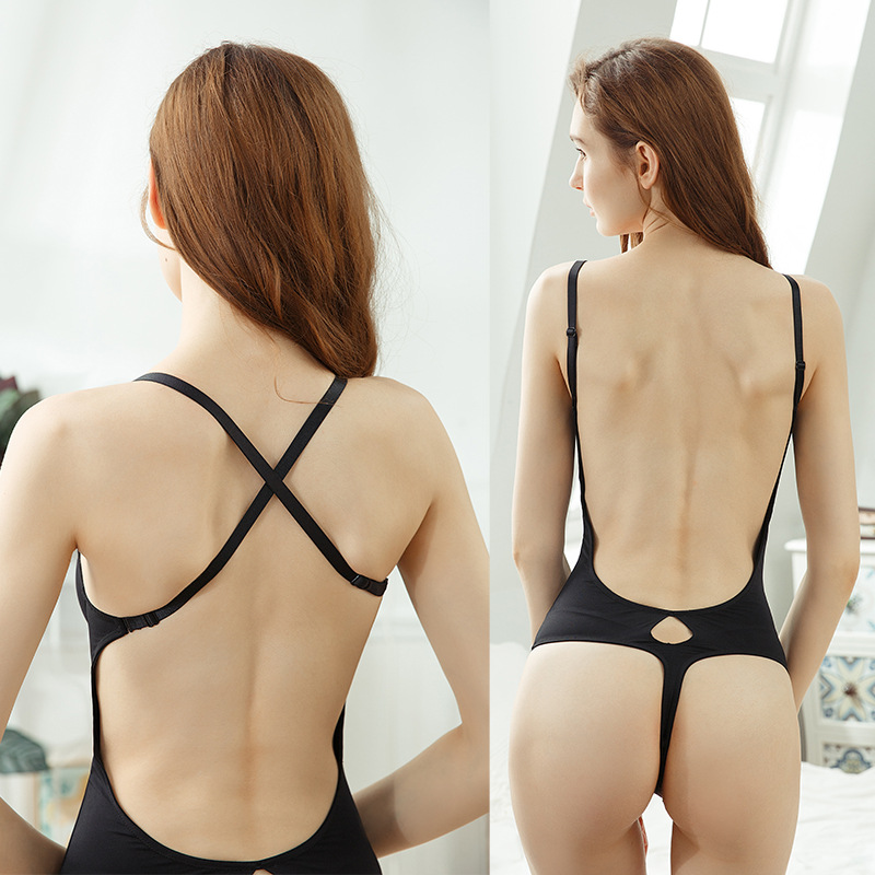 Image 2 - New Arrival Sexy Women Full Body Corsets Waist Trainer Self control Bustiers Jumpsuits sexy bodysuit-in Bodysuits from Underwear & Sleepwears