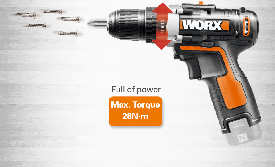 Worx 12V Electric Drill Driver