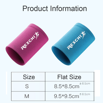 1pcs Wrist Brace Support Breathable Ice Cooling Sweat Band Tennis Wristband Wrap Sport Sweatband For Gym Yoga Volleyball 10