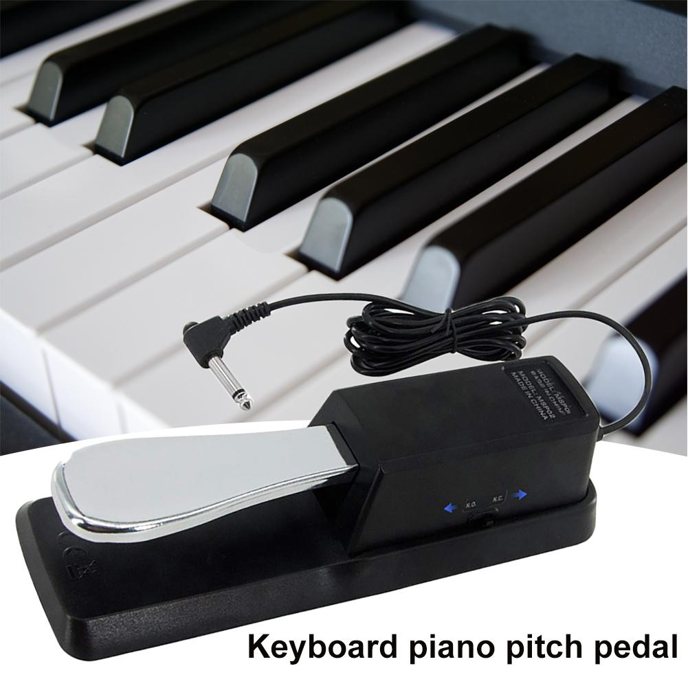 Piano Keyboard Universal 6.35mm Plug Anti-slip Damper Sustain Foot Pedal Pad 6.35mm Plug Anti-slip Damper Sustain Foot Pedal Pad