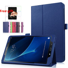 Para samsung galaxy tab a7 10.4 t500 t505 t507 tablet caso tab um 10.5 t590 t595 capa de couro dobrável suporte flip smart cover + filme