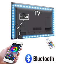 1M 2M 3M 4M 5M LED TV light 5V USB Bluetooth RGB Neon Backlight smart LED strip Light For tv HDTV background decoration Lighting cheap CHNAITEKE CN(Origin) ROHS living room 10000 hrs Switch 3 84W m SANAN SMD5050 LED TV strip lights Not include CR2032 battery