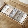 Caja para almacenamiento de calcetines de plástico para cajón de escritorio separado ropa interior hogar caja de almacenamiento cajas de organización puede CSV