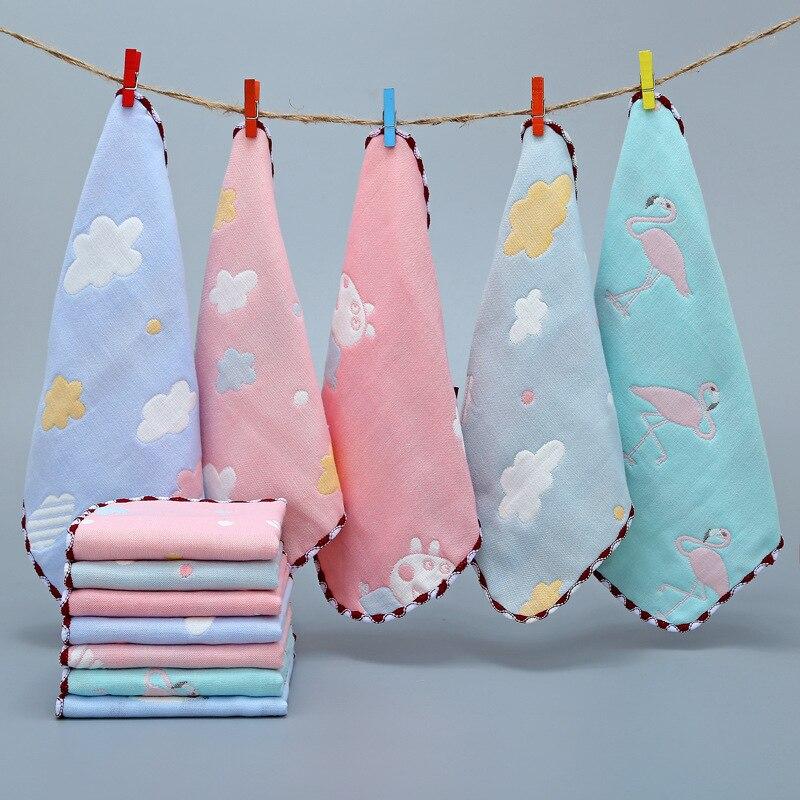 Baby Towel Muslin Squares Handkerchief Hand Bath Feeding Gauze Muslin Baby Cotton Towel Square Towels For Boys Girls Wash Cloth