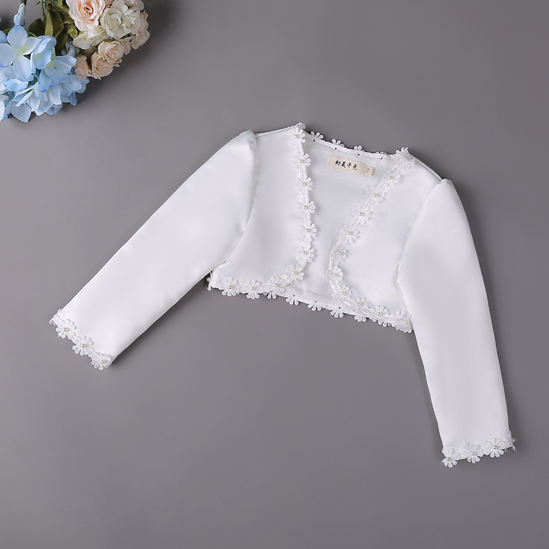 Girls New Style Long Sleeve Formal Dress Shawl Children Princess Outdoor Shawl Flower Boys/Flower Girls Wedding Dress Mantle Bab