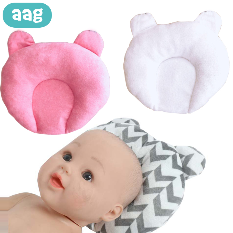 1Pc Newborn Baby Infant Cotton Pillow Positioner Prevent Flat Head Anti Roll ss