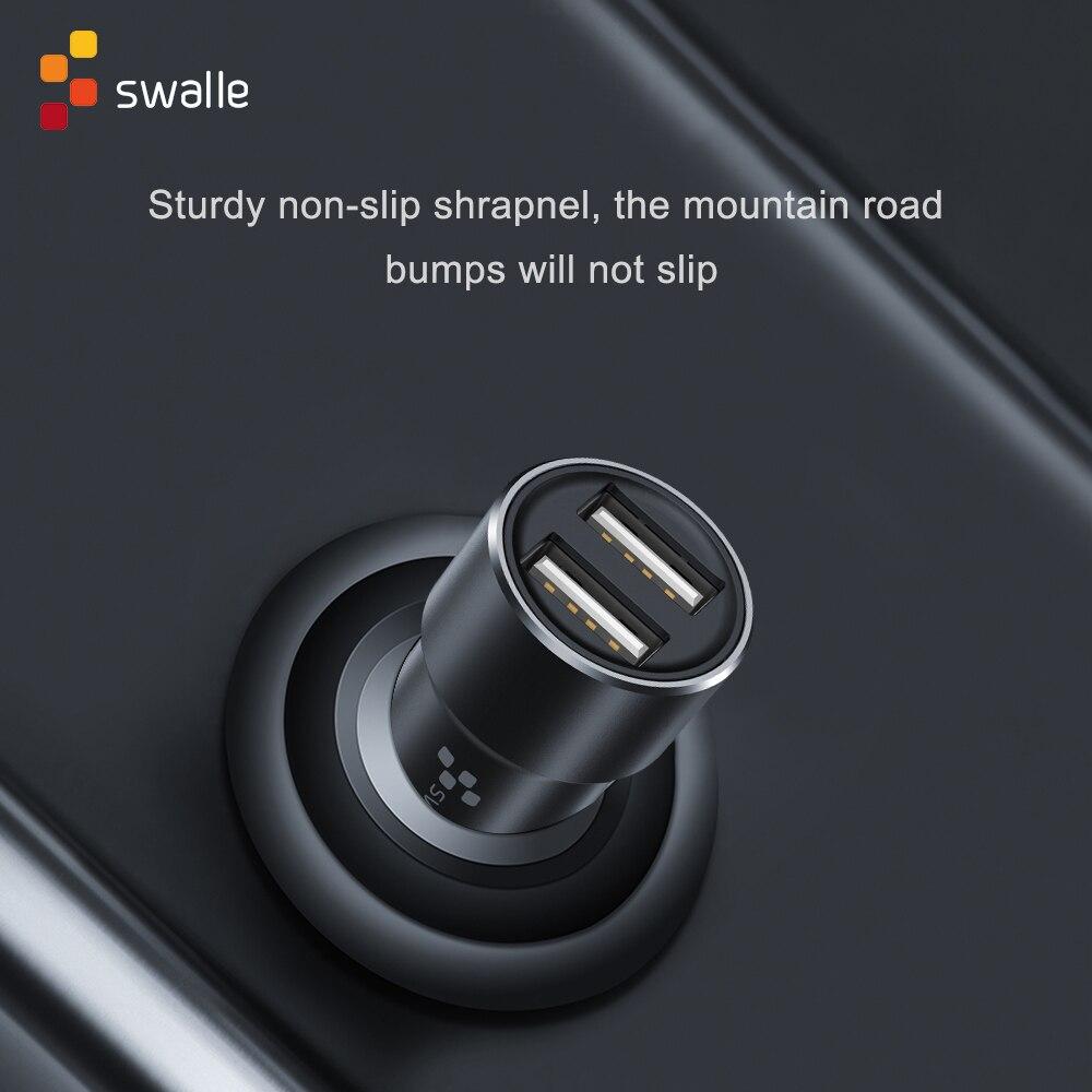 Swalle 2A Cepat Charger untuk Ponsel Tablet GPS Mobil Pengisian untuk iPhone 11 Mini Charger Mobil Dual USB port