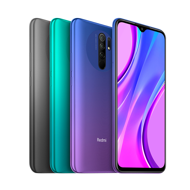 Global Version Redmi 9 4GB 64GB Smartphone Octa-core Media Tek Helio G80 13MP Quad Rear amera 5020 mAh Redmi 9 Type-c 6.53""
